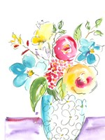 Flower Burst Vase I Fine-Art Print