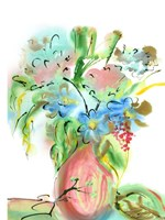 Flower Burst Vase II Fine-Art Print
