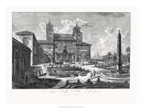 Veduta della Villa Medici Fine-Art Print