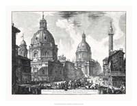 Veduta della du Chiese della Madonna Fine-Art Print