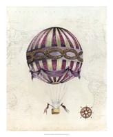 Vintage Hot Air Balloons I Fine-Art Print