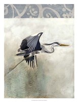 Waterbirds in Mist III Fine-Art Print