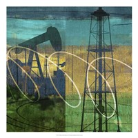 Oil Rig & Oil Well Collage Fine-Art Print