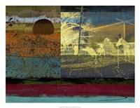 Horse & Hay Collage Fine-Art Print