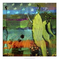 Cactus & Flag Collage Fine-Art Print