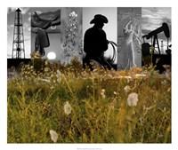 Western Collage Fine-Art Print