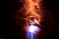 Flaming Bottle 2 Fine-Art Print