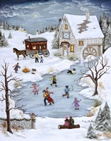 Skating On Christmas Eve Fine-Art Print