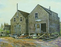 Fish Houses Fine-Art Print