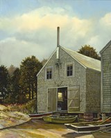 Monhegan Fish House Fine-Art Print