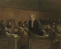Court Scene - Speech For The Defense, 1907 Fine-Art Print