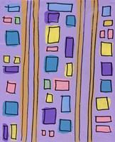 Squares and Stripes Purple Fine-Art Print