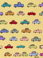 Cars - Yellow Fine-Art Print