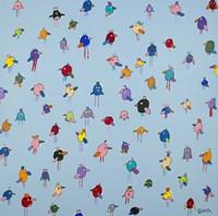 Big Little Birds Blue Fine-Art Print