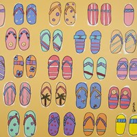 Flip Flops - Yellow Fine-Art Print