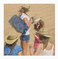 Girls on the Beach Fine-Art Print