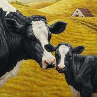 Holstein Cow and Calf Fine-Art Print