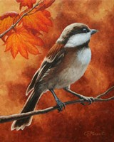 Autumn Chickadee Fine-Art Print