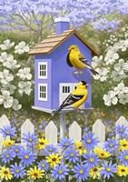 Goldfinch Garden Home Fine-Art Print