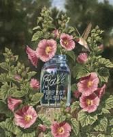 Summer Hollyhocks Fine-Art Print