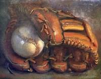 Baseball with Mitt 7 Fine-Art Print