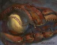 Baseball and Mitt Framed Print
