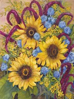 Sunflowers And Thistles Fine-Art Print