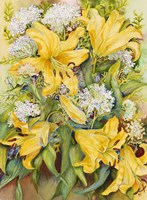 Bright Yellow Lillies Fine-Art Print