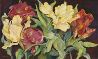 Red And Yellow Parrot Tulips Fine-Art Print