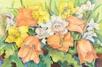Peach Tulips & Daffodils Fine-Art Print