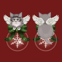 Happy Holidays Cat Back Fine-Art Print
