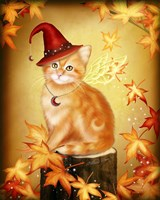 Autumn Cat Magic Fine-Art Print