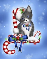 Candy Cane Kitten Fine-Art Print