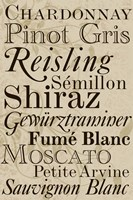 White Wine Typography Fine-Art Print