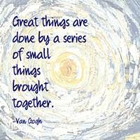 Great Things -Van Gogh Quote 2 Fine-Art Print
