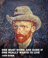 One Must Work -Van Gogh Quote Fine-Art Print