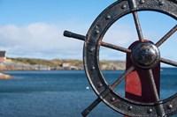 Harbor and Boat Wheel Fine-Art Print