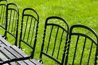 Park Benches in Palace Gardens, Austria Fine-Art Print