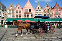 Medieval Market Square, Belgium Fine-Art Print