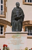 Courtyard Statue, Reims, Champagne Fine-Art Print