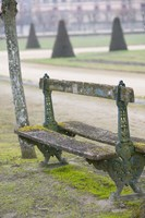 Park Bench in the Gardens, Chateau de Fontainebleau Fine-Art Print