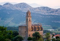 Church in Village of Patrimonio, Corsica, France Fine-Art Print