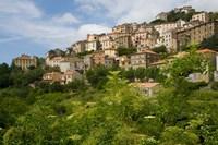 Village of Pieve, Corsica, France Fine-Art Print