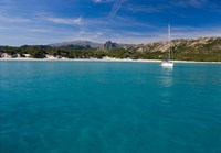 Corsica Sailboat at Saleccio Beach Fine-Art Print