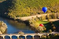 Hot Air Balloon, Chateau de Castelnaud Fine-Art Print