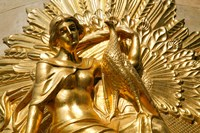 Golden Statuary, Commerz Bank in Leipzig Fine-Art Print