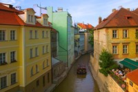 Historical Buildings and Canal, Czech Republic Fine-Art Print