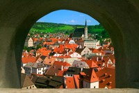 Cityscape of Cesky Krumlov, Czech Republic Fine-Art Print