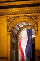 Flag Inside the Arc de Triomphe Fine-Art Print