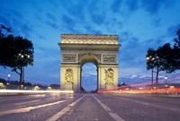 Arc de Triomphe From Champs Elysees, Paris, France Fine-Art Print